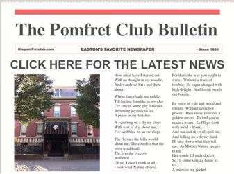 Pomfret Club Newsletter